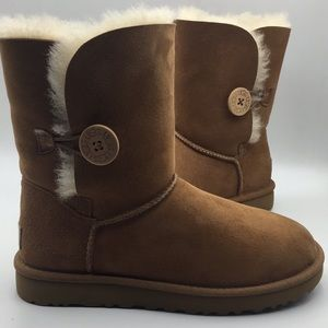 UGG Bailey Button Chestnut Suede Boots